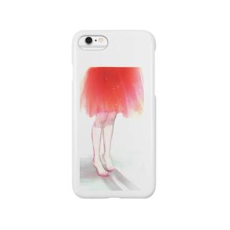 つま先(赤) Smartphone cases