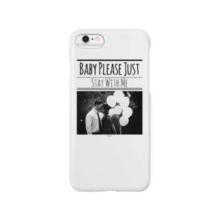 レトロなモノトーンコーデ 「Stay With Me」 Smartphone cases