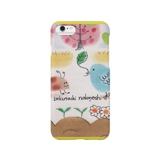 鳥とテントウムシ Smartphone cases