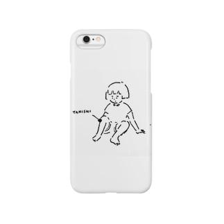 膝小僧にタニシ Smartphone cases
