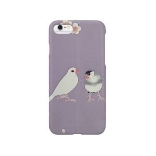 梅と文鳥 Smartphone cases