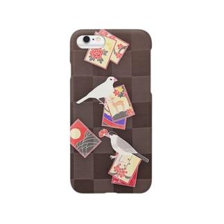 花札と文鳥 Smartphone cases