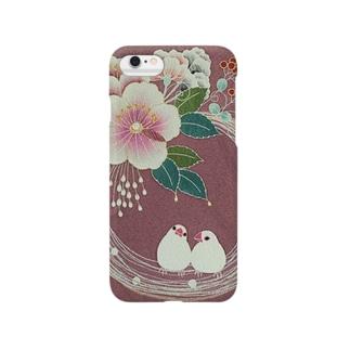 花輪と白文鳥たち Smartphone cases