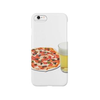 ピザとビール Smartphone cases