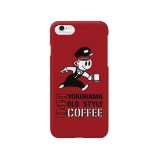 045COFFEE B ダークレッド Smartphone cases