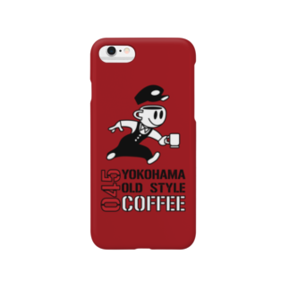 045COFFEE YOKOHAMAの045COFFEE B ダークレッド Smartphone cases