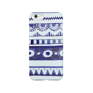 青いレース Smartphone cases