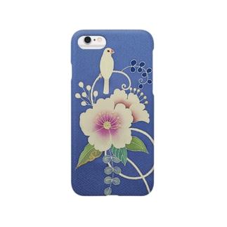 花と白文鳥 Smartphone cases