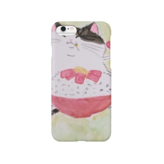 餅猫シダー 鉄火丼 Smartphone cases
