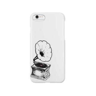 白い音楽 Smartphone cases