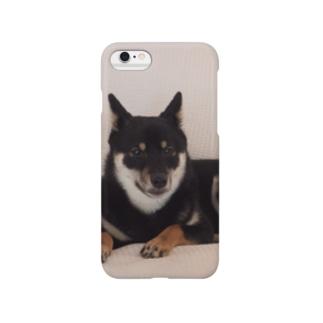 黒柴のまる Smartphone cases