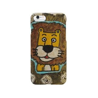 ライオンくん 金 Smartphone cases
