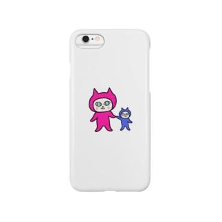 宇宙ねこ ミルン&ケルン Smartphone cases