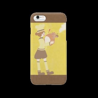 やたにまみこのiPhoneケース(iPhone6 / 6s用)◆ ema-emama『pain-de-mie』スマートフォンケース