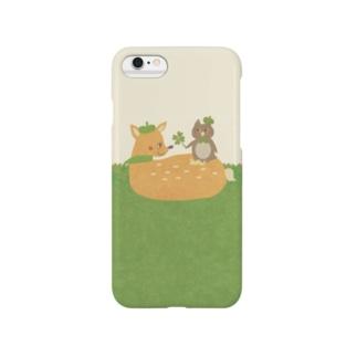 やたにまみこのiPhoneケース(iPhone6 / 6s用)◆ ema-emama『happiness-clover』 Smartphone cases