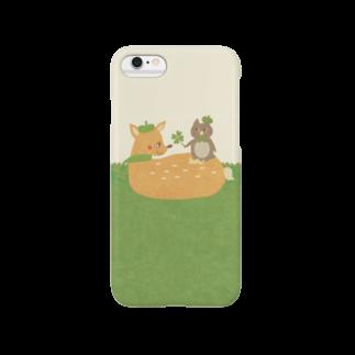 やたにまみこのiPhoneケース(iPhone6 / 6s用)◆ ema-emama『happiness-clover』スマートフォンケース