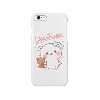 ゲスくまパステル Smartphone cases