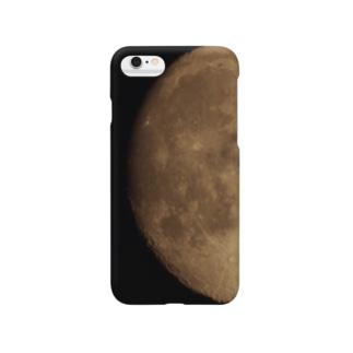 月のオモテ Smartphone cases