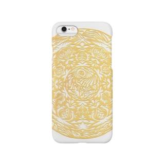 Maru ⭕ Mandala 繁栄(白) Smartphone cases
