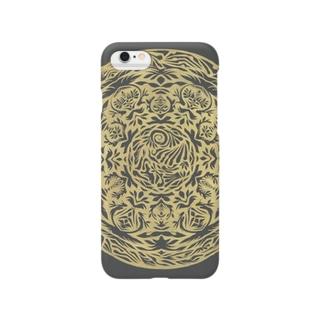 Maru ⭕ Mandala 繁栄(黒) Smartphone cases