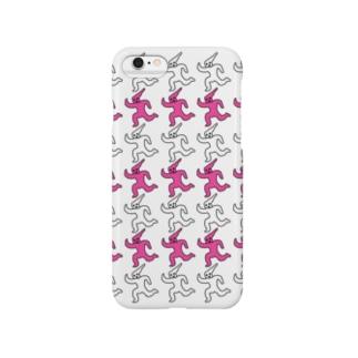 走るピンク Smartphone cases