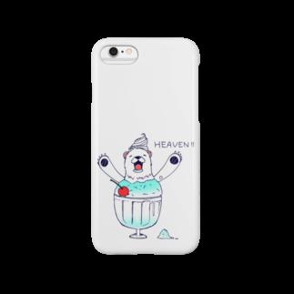 ミカトリエのしろくまヘヴン Smartphone cases