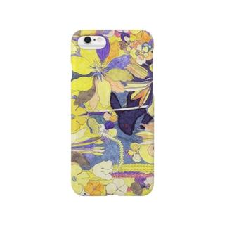「花畑」黒うさぎ Smartphone cases