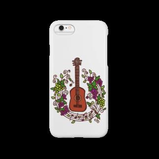 ミカトリエのアコギ(ぶどうまみれ) Smartphone cases