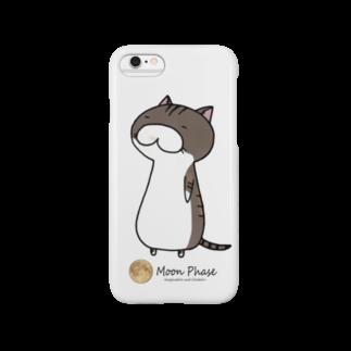 Moon Phaseのサバトラにゃんもげら(ぼんやり) Smartphone cases