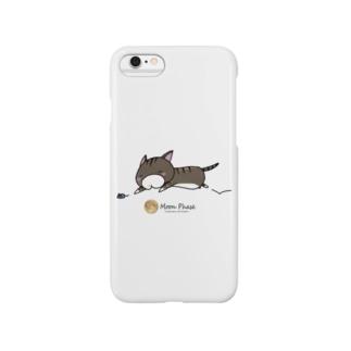 サバトラにゃんもげら(ダッシュ) Smartphone cases