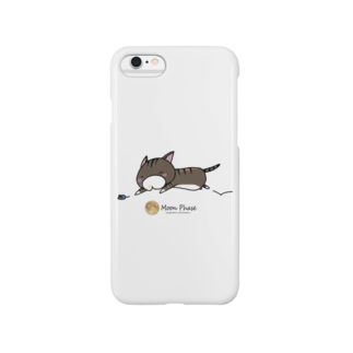 Moon Phaseのサバトラにゃんもげら(ダッシュ) Smartphone cases