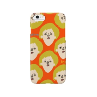 kotsue mamire こつえ(赤) Smartphone cases