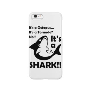 B級なサメ君 Smartphone cases