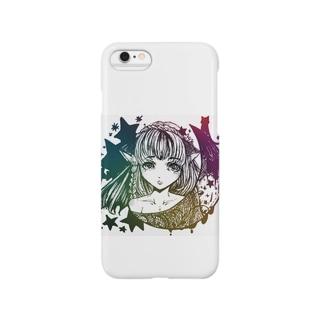 三日月猫娘 虹 Smartphone cases