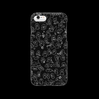 エナメルストア SUZURI店のマエバサンたっぷりクロ Smartphone cases