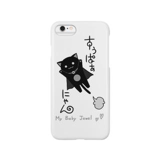 モノクロすぅぱぁにゃん Smartphone cases