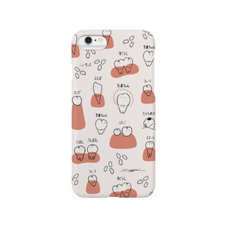 minchiinfoの虫歯ちゃんと乳歯ちゃん Smartphone cases