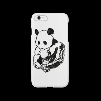 tanamaru_pandaのマッスルパンダ Smartphone cases