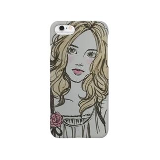 すまし顔の女の子 Smartphone cases