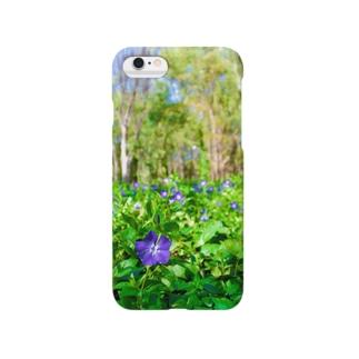 お花ムラサキ Smartphone cases