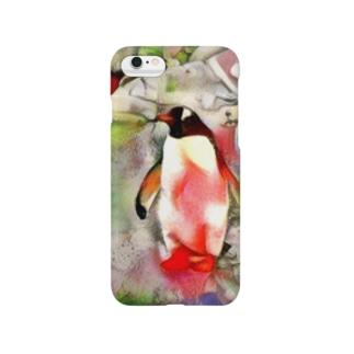 yoshica's design caféのペンギン[海空] Smartphone cases