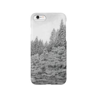 鉛筆画・森 Smartphone cases