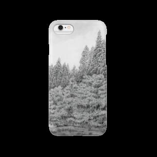*郁えんぴつ* Goods Shopの鉛筆画・森 Smartphone cases