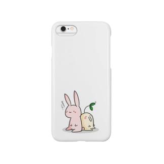 植物の妖精さんとうさぎさん Smartphone cases