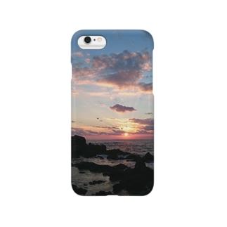 日本海に沈む夕陽 Smartphone cases