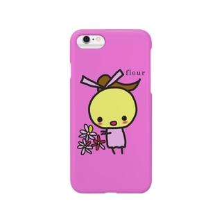 ぽよこFleur Smartphone cases