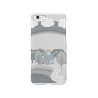 虹とお家シリーズ(モノクロ) Smartphone cases