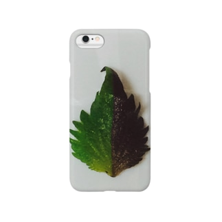 半分な紫蘇 Smartphone cases