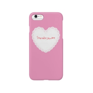 Stay who you are♡PINK スマートフォンケース