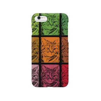 猫[ダブル‐トーン(double tone)] Smartphone cases